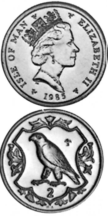 Гернси остров 2 пенса 1985
